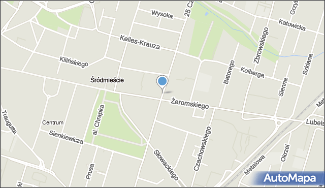 Radom, 25 Czerwca, mapa Radomia