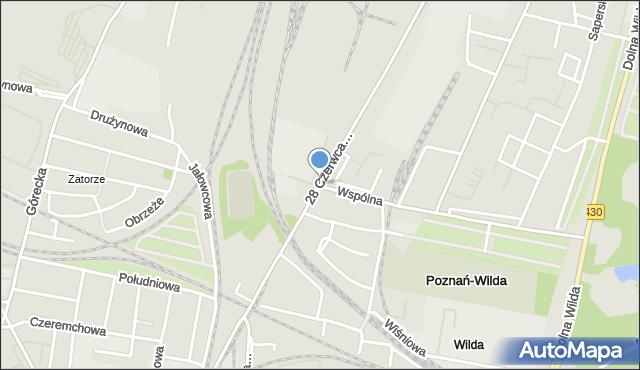 Poznań, 28 Czerwca 1956 r., mapa Poznania