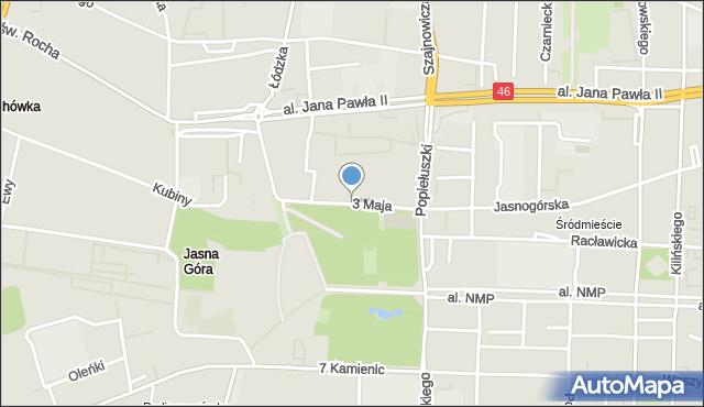 Częstochowa, 3 Maja, mapa Częstochowy