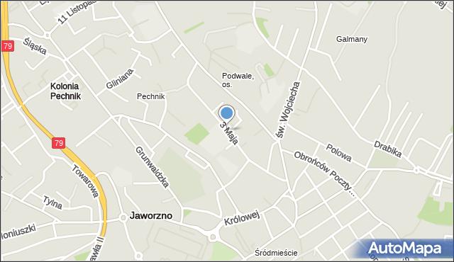 Jaworzno, 3 Maja, mapa Jaworzno