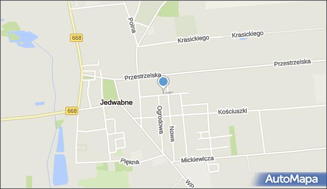 Jedwabne, 3 Maja, mapa Jedwabne