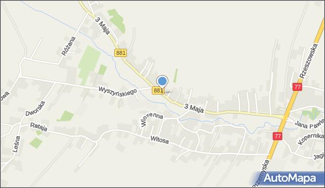 Żurawica powiat przemyski, 3 Maja, mapa Żurawica powiat przemyski
