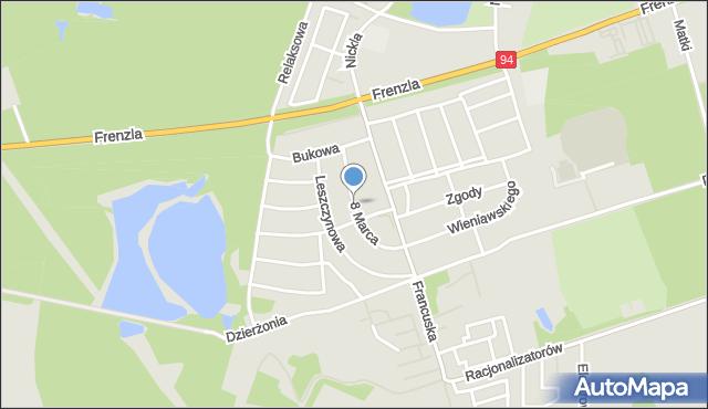 Bytom, 8 Marca, mapa Bytomia