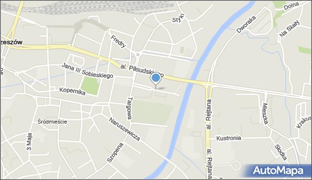 Rzeszów, 8 Marca, mapa Rzeszów