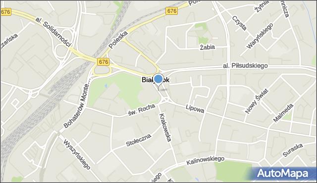 Białystok, Abramowicza Adama, ks., mapa Białegostoku