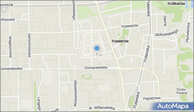 Warszawa, Abramowskiego Edwarda, mapa Warszawy