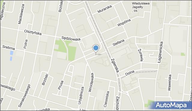 Łódź, Adwokacka, mapa Łodzi