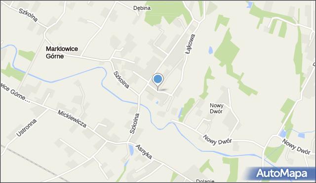 Marklowice Górne, Adameckiego Bernarda, płk. pil., mapa Marklowice Górne