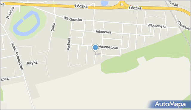 Toruń, Agatowa, mapa Torunia