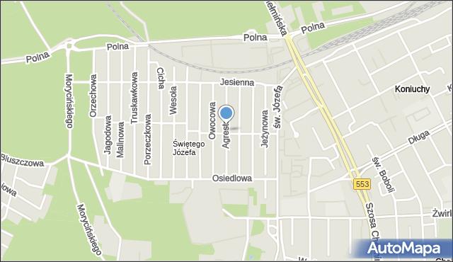 Toruń, Agrestowa, mapa Torunia