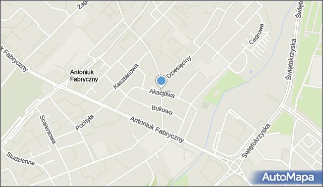 Białystok, Akacjowa, mapa Białegostoku