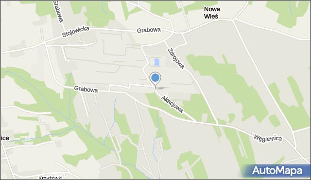 Dobczyce, Akacjowa, mapa Dobczyce