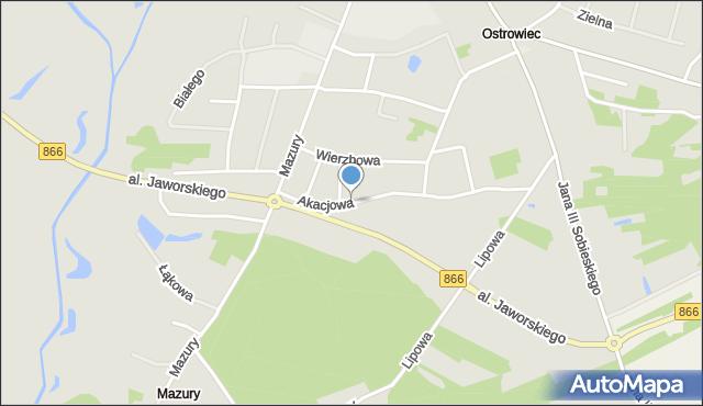 Lubaczów, Akacjowa, mapa Lubaczów