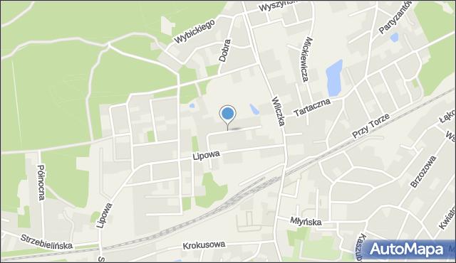 Luzino, Akacjowa, mapa Luzino