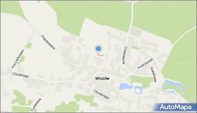 Mrozów, Akacjowa, mapa Mrozów