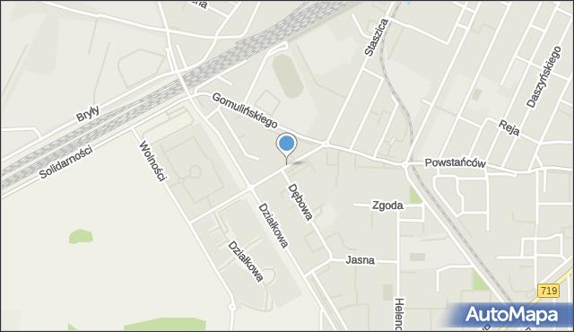 Pruszków, Akacjowa, mapa Pruszków