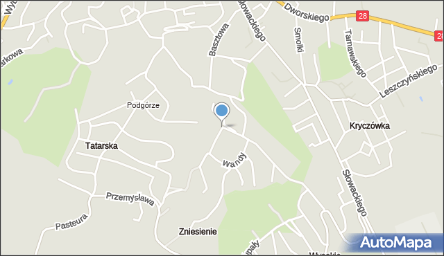 Przemyśl, Akacjowa, mapa Przemyśla