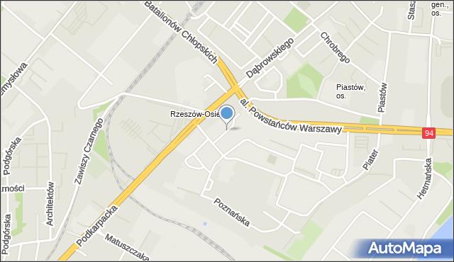 Rzeszów, Akademicka, mapa Rzeszów