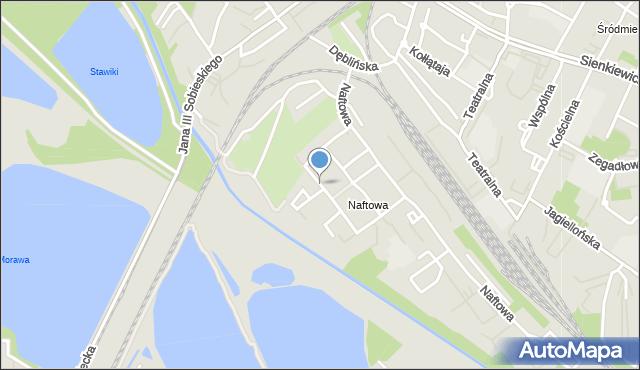 Sosnowiec, Akacjowa, mapa Sosnowca