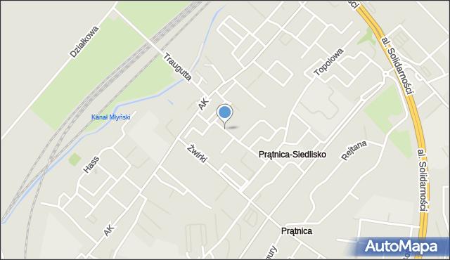Tczew, Akacjowa, mapa Tczew