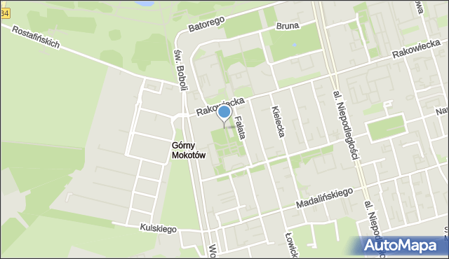 Warszawa, Akacjowa, mapa Warszawy