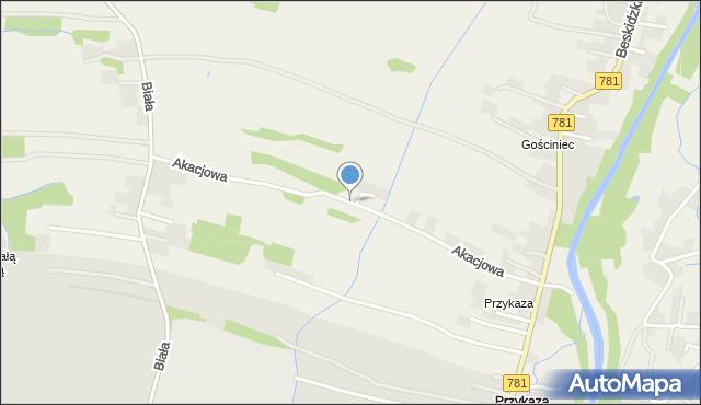 Wieprz powiat wadowicki, Akacjowa, mapa Wieprz powiat wadowicki