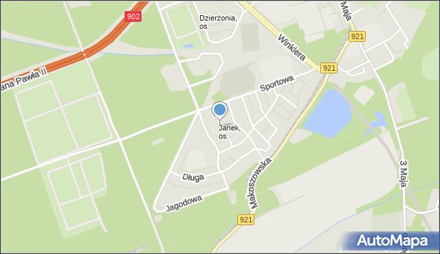 Zabrze, Akacjowa, mapa Zabrza