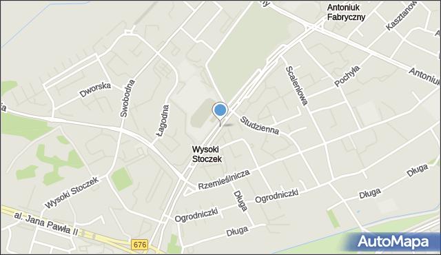 Białystok, Aleja Konstytucji 3 Maja, mapa Białegostoku