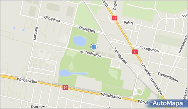Bytom, Aleja Tenisistów, mapa Bytomia