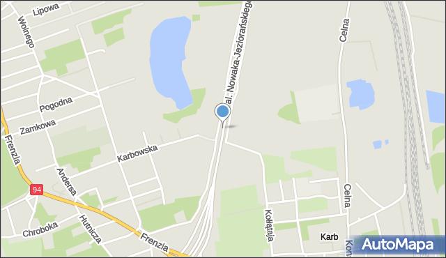 Bytom, Aleja Nowaka-Jeziorańskiego Jana, mapa Bytomia
