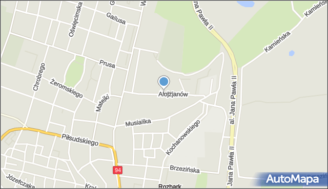 Bytom, Alojzjanów, mapa Bytomia