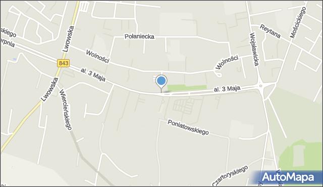 Chełm, Aleja 3 Maja, mapa Chełma