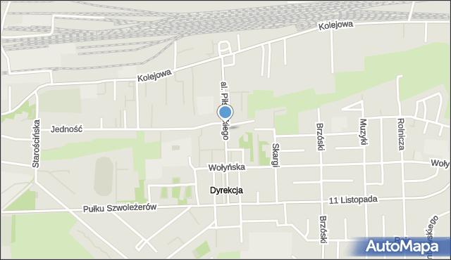 Chełm, Aleja Piłsudskiego Józefa, marsz., mapa Chełma