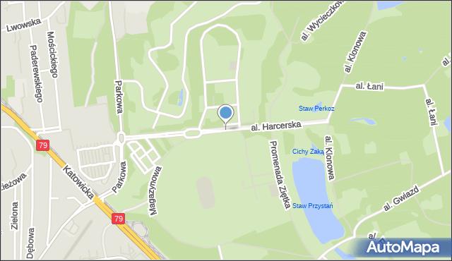 Chorzów, Aleja Harcerska, mapa Chorzów