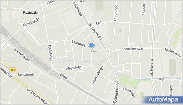 Gdańsk, Aldony, mapa Gdańska