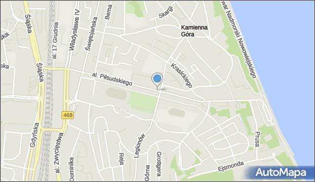 Gdynia, Aleja Piłsudskiego Józefa, marsz., mapa Gdyni