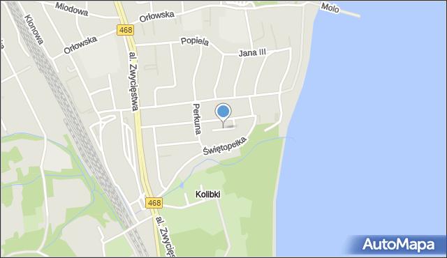 Gdynia, Aldony, mapa Gdyni