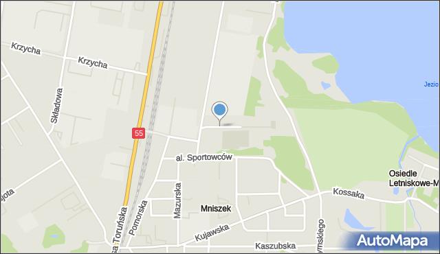 Grudziądz, Aleja Chełmońskiego, mapa Grudziądza