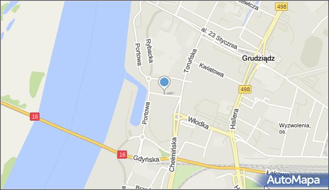 Grudziądz, Aleja Maślankowskiego T., hm., mapa Grudziądza