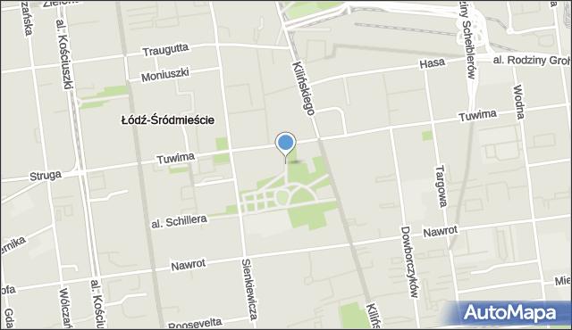 Łódź, Aleja Walickiego Franciszka, mapa Łodzi