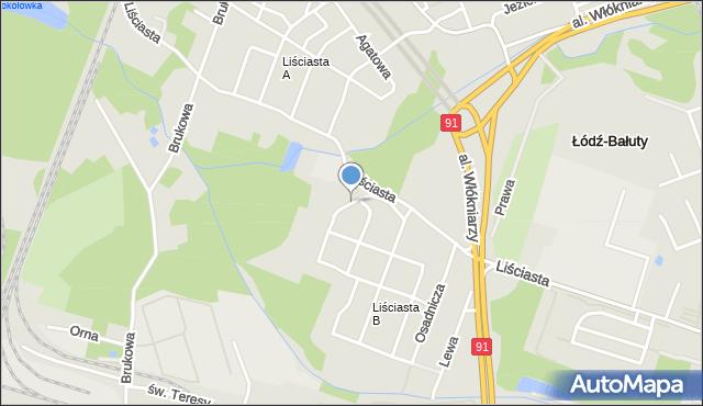 Łódź, Aldridge'a Iry, mapa Łodzi