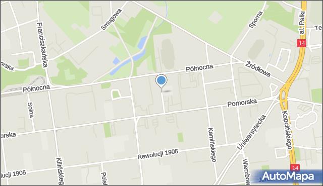 Łódź, Aleja Anstadta Karola, mapa Łodzi