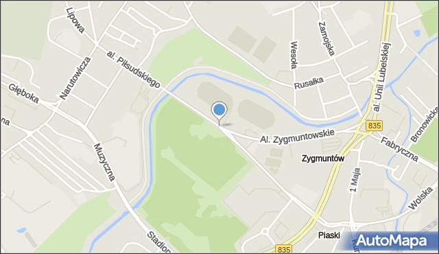 Lublin, Aleja Piłsudskiego Józefa, marsz., mapa Lublina