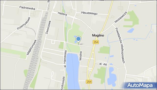 Mogilno, Aleja Niepodległości, mapa Mogilno