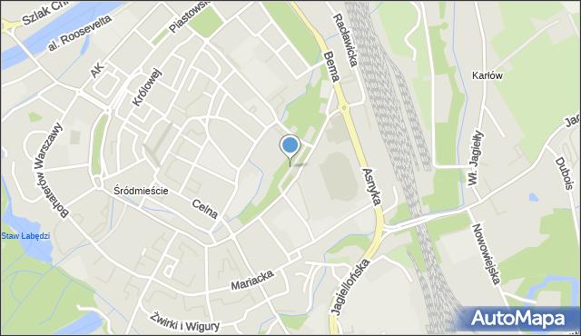 Nysa, Aleja Lompy Józefa, mapa Nysy