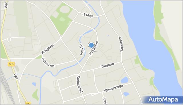 Olecko, Aleje Lipowe, mapa Olecko