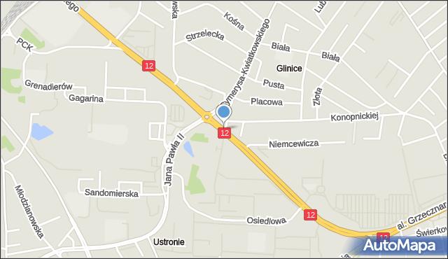 Radom, Aleja Grzecznarowskiego Józefa, mapa Radomia