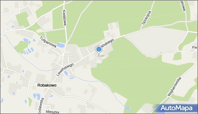 Robakowo gmina Luzino, Alpejska, mapa Robakowo gmina Luzino