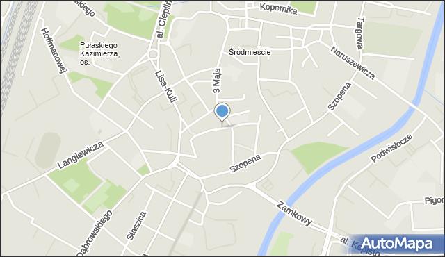 Rzeszów, Aleja Pod Kasztanami, mapa Rzeszów