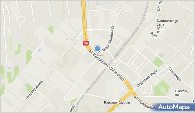 Rzeszów, Aleja Batalionów Chłopskich, mapa Rzeszów